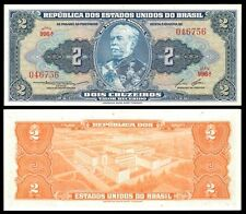 Brazil 2 CRUZEIROS Sign 6 ND (1954-58) P 151b UNC