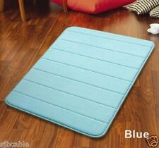 "Blue 32"" Non-Slip Back Rug Soft Bathroom Carpet Memory Foam Bath Mat Us seller"