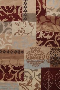 Contemporary Patchwork Oriental Area Rug Hand-Tufted Wool 10x13 ft Large Carpet