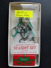 Department 56 10 Light Set Battery Operated Green Wire #3632-3 Accessory 💖