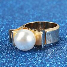Fashion Womens Finger Rings Faux Pearl Engagement Knuckle Ring Jewelry Gift XS