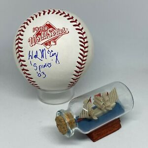 Hal McCoy signed Rawlings 1990 World Series Logo Baseball JSA Reds HOF A2226