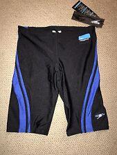Boys Speedo Power flex Jammers Shorts Racing Swimsuit $49 Black Blue 26