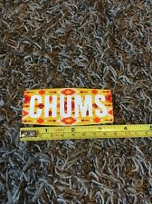 Chums Eyewear Sticker Decal Yellow Orange Retainer Sunglasses Skate Surf 3.5""