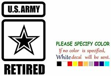 """US Army Retired Funny Vinyl Decal Sticker Car Window laptop tablet truck 7"""""""