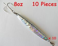 New listing 10 Pieces diamond Jigs 8oz holographic saltwater fishing lures