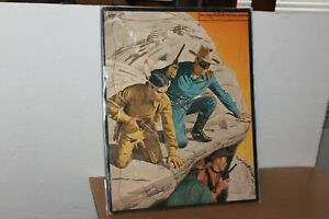 NICE VINTAGE 1953 WHITMAN THE LONE RANGER  INLAID PICTURE PUZZLE #2