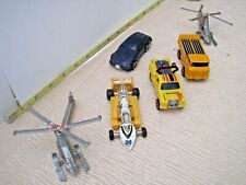 6 Vintage Transformers Mc Toy Dyna-Bot Robot GoBot Dump Truck Helicopters