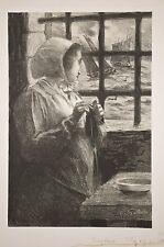Fernand Louis GOTTLOB, lithographie la PAIMPOLAISE, Bretagne fin XIX°