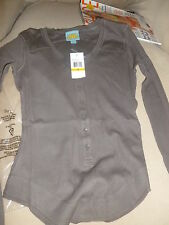 New splendid C&C California thermal henley sweater knit S Small faded black gray