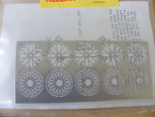 MG TC and other 1:24 Metal Model Spoked Wheels Set (5 wheels) - Etched Kit