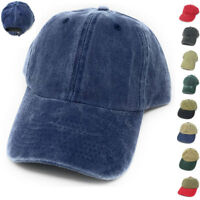Womens Brushed Cotton Baseball Hats Caps 6 Panel Low Crown Summer Colors