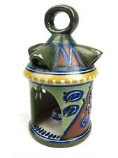 Gouda Pottery Lantern / Vase / Art Deco / Green / Blue / Orange / Rare