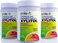 Smile-B 100% Xylitol Pastilles - Orange Flavour- With Multivitamin & Zinc
