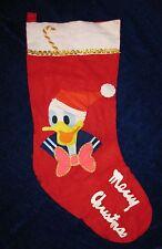 Vintage Donald Duck Christmas Stocking Felt Appliques Disney Productions Japan