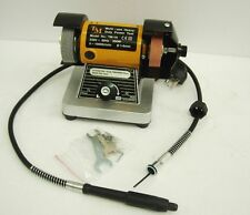 "75mm 3"" 200W Mini Bench Grinder and Polisher with Flexible Shaft"