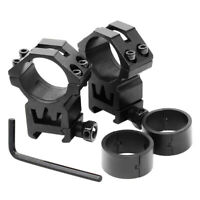 "2 Pcs 30mm - 1"" Scope Ring Picatinny Weaver Rail Laser Optics Mount w/ reducers"