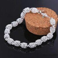 Damen Armband Luxus Silber 925 Charm Armreif Hochzeit Braut Schmuck Geschenk Neu