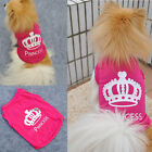 1Pcs Cute Pet Dog Cat Princess T-shirt Clothes Costumes Outfit Vest Summer Coat