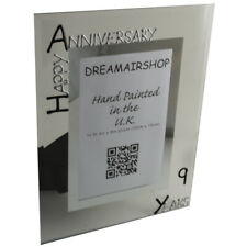 9th Year Anniversary Picture Photo Frame (P) (Black/Silver)