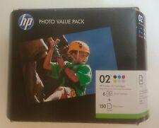 HP 02 Ink Cartridges Black/ Color Combo Pack +150 sheets photo paper EXP 8/2012