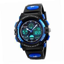 Beswlz Ragazzi multifunzione Dual Time Allarme digitale Sport orologio impermeabile (blu)