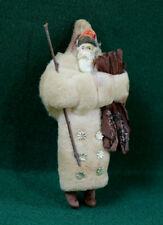 Antique Spun Cotton Santa Father Christmas German Dresden Ornament Circa 1910