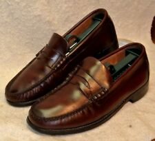 Vintage Florsheim Cordovan Leather Penny Loafer Shoes Leather Soles Men`s 7 D
