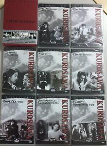 10 DVD Nuovi Kurosawa I Sette Samurai Cane Randagio Vivere L'angelo Ubriaco Etc.