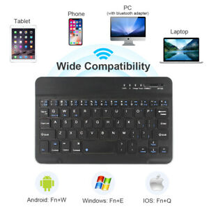 Rechargeable Mini Wireless Keyboard Bluetooth Fit Phone ipad ios Android Windows