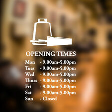 Custom opening times Hair and beauty salon wall sticker quote decal art n14