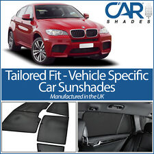 BMW X6 5 DOOR 2008 ON UV CAR SHADES WINDOW SUN BLINDS PRIVACY GLASS TINT BLACK
