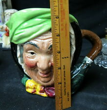 large Royal Doulton figural toby mug / pitcher old Dickens character Sairy Gamp