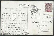 SIERRA LEONE 1905 postcard Barracks, Freetown - SOUTHAMPTON SHIP LETTER....56841