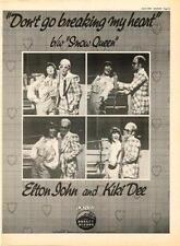 Elton John Kiki Dee Don't Go Breaking UK '45 advert 1976