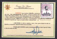 España 1920. Alfonso XIII. UPU. Certificado Soro. Ed 308. MNH. **.
