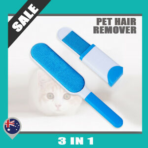 Furs Brusher Pet Hair Wizard Lint Remover Brush Self-cleaning Base + Travel Size