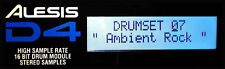 ALESIS LCD DISPLAY - D4 DRUM MODULE - LIGHT BLUE - NEW D-4 REPLACEMENT SCREEN