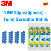 3M Scotch Brite Disposable Toilet Bowl Cleaner Brushes Scrubber 24 Refills