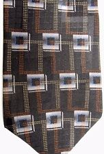 "Alexander Julian Men's Silk Tie 58.5"" X 4"" Multi-Color Geometric"