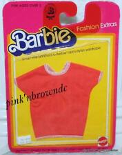 Genuine 1983 Barbie Collectible FASHION EXTRAS #4910 Red Short Sleeve Blouse/Top