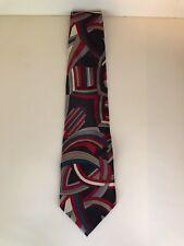 Beautiful Vintage Pierre Cardin Retro Graphic 100% Silk Tie