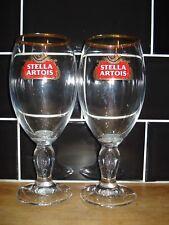 2 x STELLA ARTOIS PINT GLASSES CHALICE   Unused New