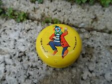 Vintage metal Beginners Lumar Yo-Yo - mid century child's toy with clown