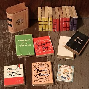 Cookbook Alice in Wonderland Bible Etiquette Photo Album Shakespeare dollhouse