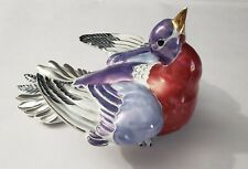 Unusual Kay Finch Luster Glaze Pottery Dove Figurine-Vg