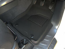 Fits Toyota Hilux Dual Cab 2015 - 2018 Black Rubber 3D Mats - Manual Trans.