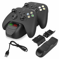Xbox Series X/S/One Dual Controller Charging Dock Station Charger w/ 2 Batteries