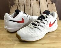 Nike Air Zoom Prestige HC Tennis Shoes White Wheat Crimson AA8020-100 Men's Sz 9