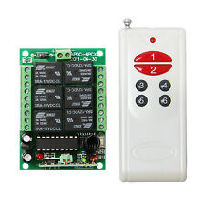 New 6 channel wireless relay remote control module,6RF Receiver & Transmitter